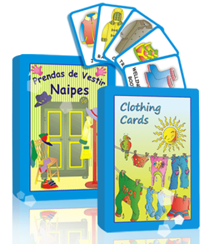 *Prendas de vestir<br />*Clothing Cards